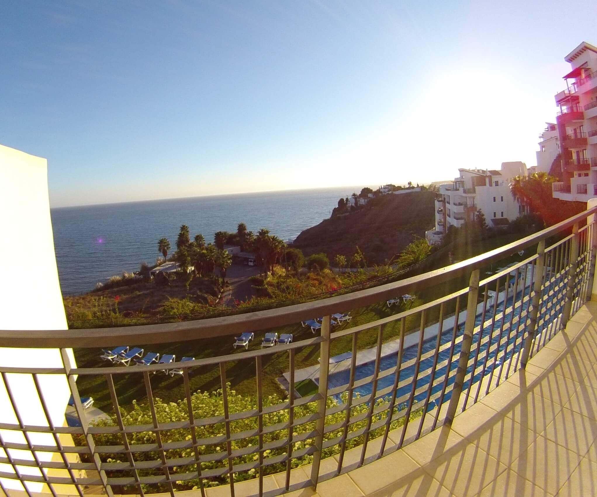 Blick vom Balkon Fuerte Calaceite, Torrox Costa