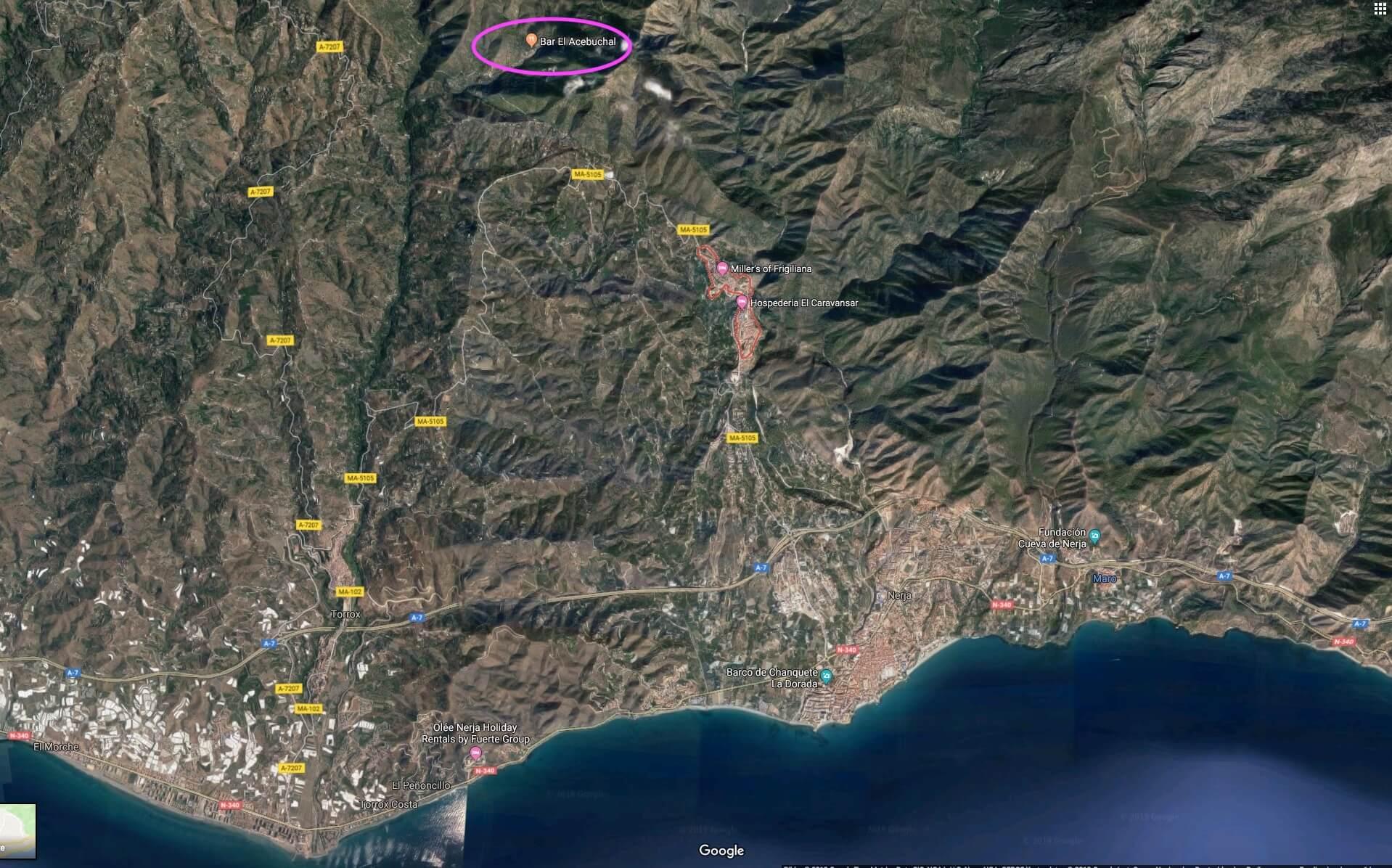 Satellitenansicht El Acebuchal